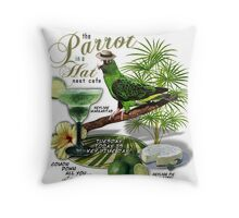 parrot in a hat Throw Pillow