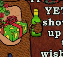 Funny Bigfoot Christmas Yeti Pun Cartoon Sticker