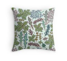 herbs pattern Throw Pillow