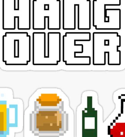 8 Bit Hangover Sticker