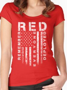 Red Friday - Remember Everyone Deployed Women's Fitted Scoop T-Shirt