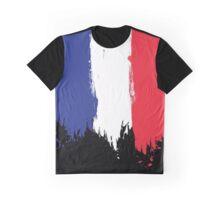 France - Paint Splatter Graphic T-Shirt