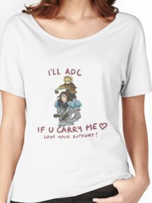adc e support <3 v.5 Women's Relaxed Fit T-Shirt