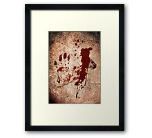 """Dexter"" Tshirt - Hand with Blood Framed Print"