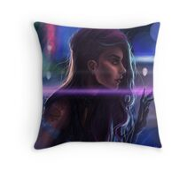 Cybergirl Throw Pillow