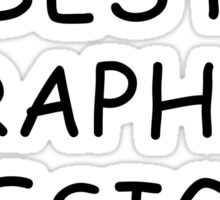 World's Best Graphic Designer T-Shirt Sticker