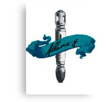 Sonic Screwdriver Allons-y Canvas Print