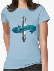 Sonic Screwdriver Allons-y Womens Fitted T-Shirt