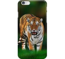 Tiger on Green iPhone Case/Skin