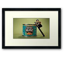 Mr Beanz Framed Print
