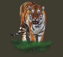 Tiger on Green T-Shirt