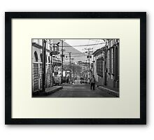 Old Downtown Framed Print