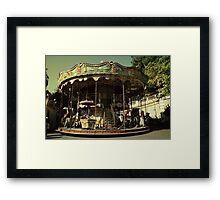 Dark city carousel Framed Print