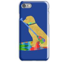 Stand Up Paddle Board Preppy Golden Retriever iPhone Case/Skin