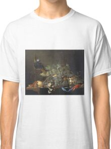 Jan Davidsz De Heem - Still Life. Still life with flowers: flowers, blossom, nature, botanical, floral flora, wonderful flower, plants, cute plant for kitchen interior, garden, vase Classic T-Shirt