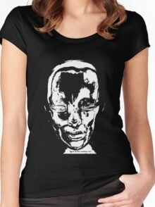 DARK FACE ONE Women's Fitted Scoop T-Shirt