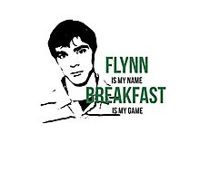 Flynn Loves Breakfast Photographic Print