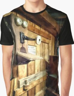 Old Fashioned Telephone in Office Graphic T-Shirt