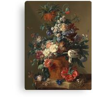 Jan Van Huysum - Vase Of Flowers. Still life with flowers: flowers, blossom, nature, botanical, floral flora, wonderful flower, plants, cute plant for kitchen interior, garden, vase Canvas Print
