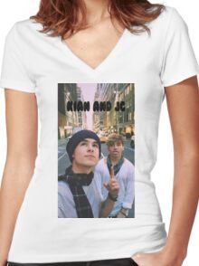 Kian and Jc City  Women's Fitted V-Neck T-Shirt