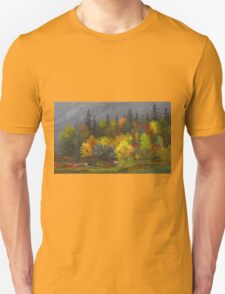 Jasper Francis Cropsey - Autumn Foliage. Forest view: forest view, trees, field, nature, botanical forestry, floral flora, wonderful flowers, plants, cute plant, garden, flowers Unisex T-Shirt