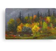 Jasper Francis Cropsey - Autumn Foliage. Forest view: forest view, trees, field, nature, botanical forestry, floral flora, wonderful flowers, plants, cute plant, garden, flowers Canvas Print