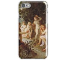 Jan Brueghel The Elder - Diana And Callisto 1605. Vintage Baroque oil famous painting : lovely, woman ,  fantastic, diana, nude, beautiful, wonderful. iPhone Case/Skin