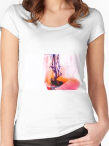 Rain at Sunset Women's Fitted Scoop T-Shirt