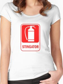 fire extinguisher romania Women's Fitted Scoop T-Shirt