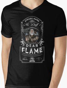 Steady Hand McDuff's Dear Flame Whisky Mens V-Neck T-Shirt