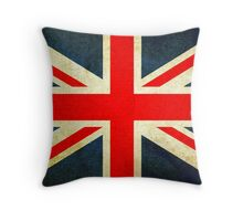 Grunge Effect Union Jack Throw Pillow