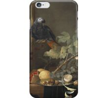 Jan Davidsz De Heem - Still Life. Still life with flowers: flowers, blossom, nature, botanical, floral flora, wonderful flower, plants, cute plant for kitchen interior, garden, vase iPhone Case/Skin