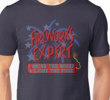 Funny Fireworks Expert 4th of July American Independence Unisex T-Shirt
