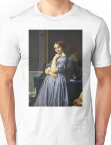 Jean-Auguste-Dominique Ingres - Comtesse D Haussonville. Woman portrait: sensual woman, girly art, female style, pretty women, femine, beautiful dress, cute, creativity, love, sexy lady, erotic pose Unisex T-Shirt