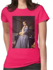 Jean-Auguste-Dominique Ingres - Comtesse D Haussonville. Woman portrait: sensual woman, girly art, female style, pretty women, femine, beautiful dress, cute, creativity, love, sexy lady, erotic pose Womens Fitted T-Shirt