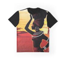African woman Graphic T-Shirt