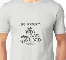 Psalms Bible Verse Nation God is Lord Unisex T-Shirt