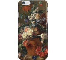 Jan Van Huysum - Vase Of Flowers. Still life with flowers: flowers, blossom, nature, botanical, floral flora, wonderful flower, plants, cute plant for kitchen interior, garden, vase iPhone Case/Skin