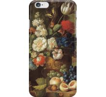Jan Van Os - Flowers . Still life with flowers: still life with flowers, flowers, blossom, nature, botanical, floral flora, wonderful flower, plants, cute plant for kitchen interior, garden, vase iPhone Case/Skin