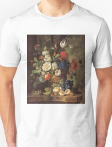 Jan Van Os - Flowers . Still life with flowers: still life with flowers, flowers, blossom, nature, botanical, floral flora, wonderful flower, plants, cute plant for kitchen interior, garden, vase Unisex T-Shirt