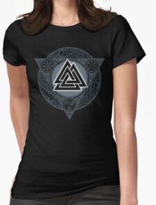 VALKNUT. ICE FLAME. Womens Fitted T-Shirt