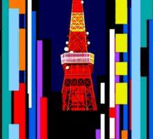 """TWA"" Fly to Tokyo Travel Print Sticker"