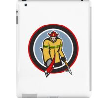 Fireman Carry Axe Hook Pike Pole Circle iPad Case/Skin