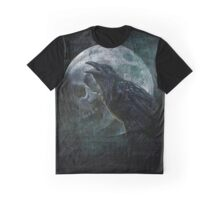 Moon raven skull Graphic T-Shirt