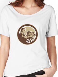 Photographer Vintage Bellows Camera Retro Women's Relaxed Fit T-Shirt