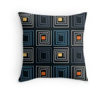 Abstract modern squares seamless pattern texture retro colors background Throw Pillow
