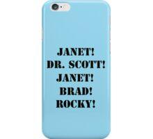 Great Scott! (black) iPhone Case/Skin