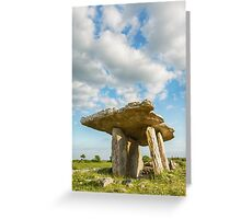 5000 years old Polnabrone Dolmen in Burren, Co. Clare - Ireland Greeting Card