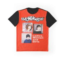 bratmobile riot grrrl ladies women and girls Graphic T-Shirt