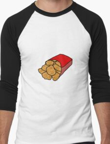 Realistic Chicken Nuggets Men's Baseball ¾ T-Shirt